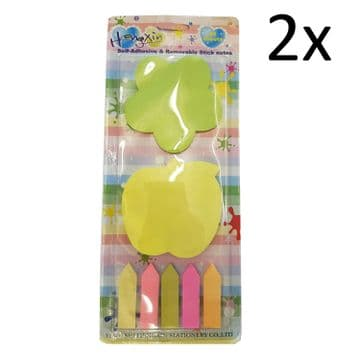 2 packs SELF ADHESIVE / REMOVABLE STICK NOTES stationary writing stick on notes
